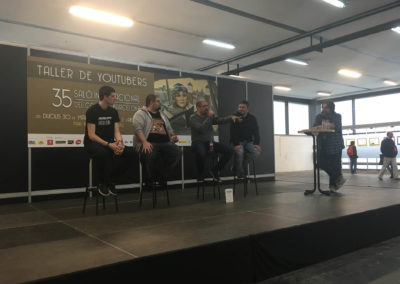 Mesa redonda sobre Youtube, durante el Salón del Manga de Barcelona.
