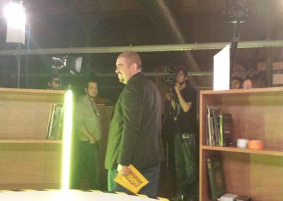 Instantánea durante la grabación del piloto para TV de mXm.